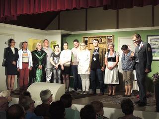 Das Ensemble freute sich über den gelungenen Abend und die ausverkauften Vorstellungen.