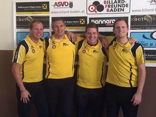 Das Quartett Alexander Seel, Andreas Ebenführer, Oliver Payer und Richard Punz schaffte den Klassenerhalt in der Bundesliga.