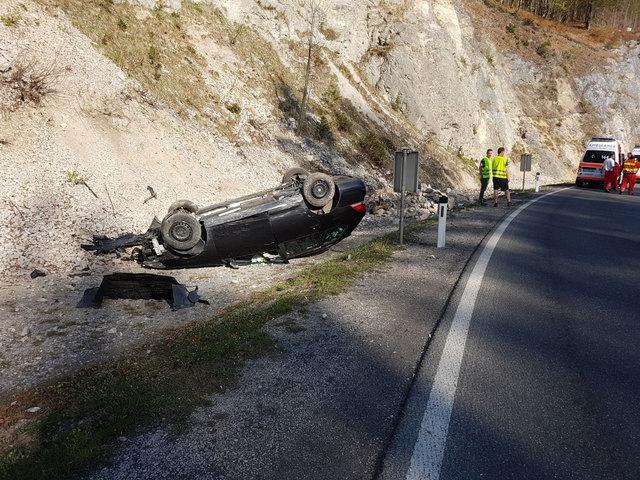 Die Einsatzkräfte waren am Unfallort.