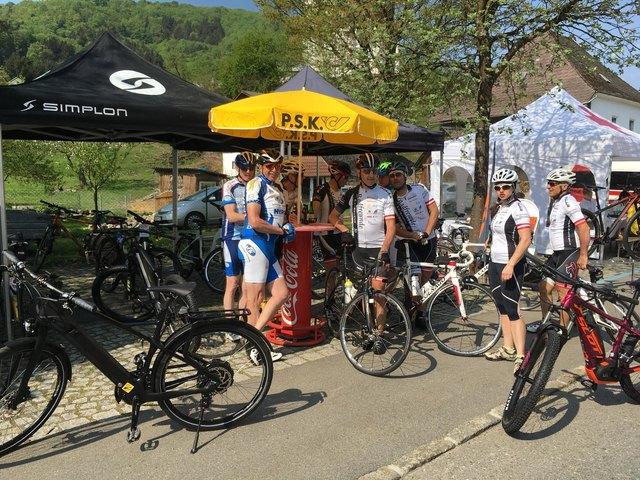 Rast der Radfreunde Haibach bei Rad Total im Donautal/Besuch bei Schirmherrn Peter Plöckinger