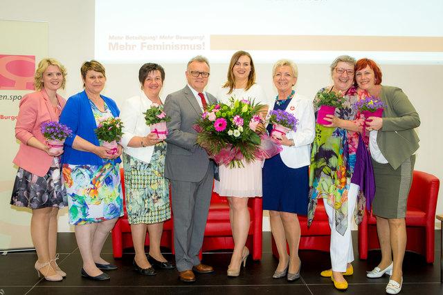 LH Hans Niessl gratulierte dem neuen Führungsteam der SPÖ Frauen Burgenland.