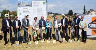 Spatenstich für 67 neue Wohnungen in der Maximilianstrasse mit Gaby Schaunig, Klaus Wutte und Maria-Luise Mathiaschitz