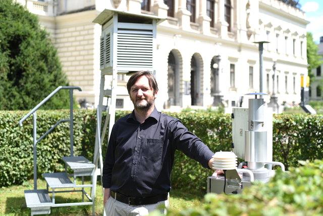 Die Wetterstation der Uni Graz liefert Klimaforscher Heimo Truhetz wichtige Erkenntnisse, auch für regionale Klimamodelle.