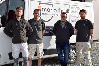 Engagiertes Team: Manuel Herstätter, Adi Gietler, Malermeister Mario Theußl und Daniel Haring.