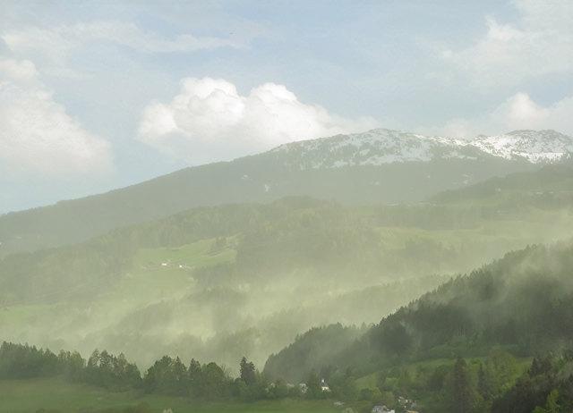 Blick von Hall Richtung Volderberg