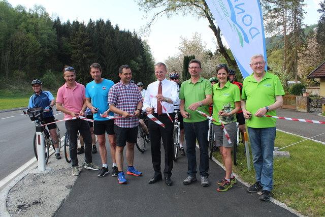 Der Geh- und Radweg-Abschnitt in Oberranna wurde am vergangenen Sonntag, 22. April, offiziell eröffnet.