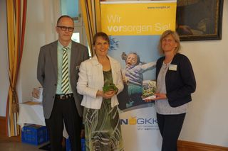 v.l.n.r.: Andreas Horvath (Klostergasthof Heiligenkreuz), Referentin Mag. Nicole Seiler und Christine Hajek (NÖGKK)