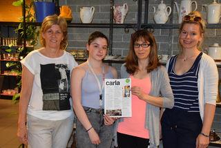 Ein eingespieltes Team: Shopleiterin Angelika Schneider, Michalle Hernach, Brigitte Tieber und Sandra Hütter.