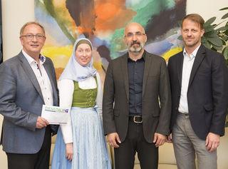 Detlev Eisel-Eiselsberg, Carla Amina Baghajati, Kenan Güngör, Moderator Michael Fleischhacker
