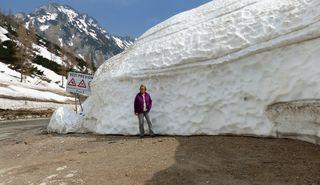 Der Schnee reicht für einige Winter noch, Foto vom 24.4.18