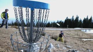 In diesen Korb muss die Disc hinein: Bei den Increstment Disc Golf Open am 16. Juni ist Präzision gefragt.