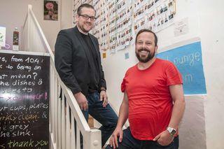 Andreas Tischler (Officemanagement) und Michael K. Reiter (Gründer und Obmann) v.l.