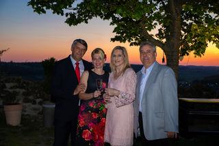 Organisatorin Edith Weber (2.v.l.) mit Bgm. Vinzenz Knor (li.), Astrid Wurglics und Vbgm. Christian Garger.