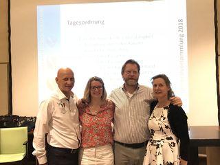 Gildenkanzler Johannes Brandstädter, Kassierin Barbara Hardt-Stremayr, Vizekanzler Mario Zernatto und Schriftführerin Heidi Reiner (v. li.)