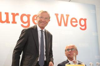 Gut gelaunt zeigte sich Landeshauptmann Wilfried Haslauer bei der heutigen Sitzung des Landesparteivorstands der ÖVP.