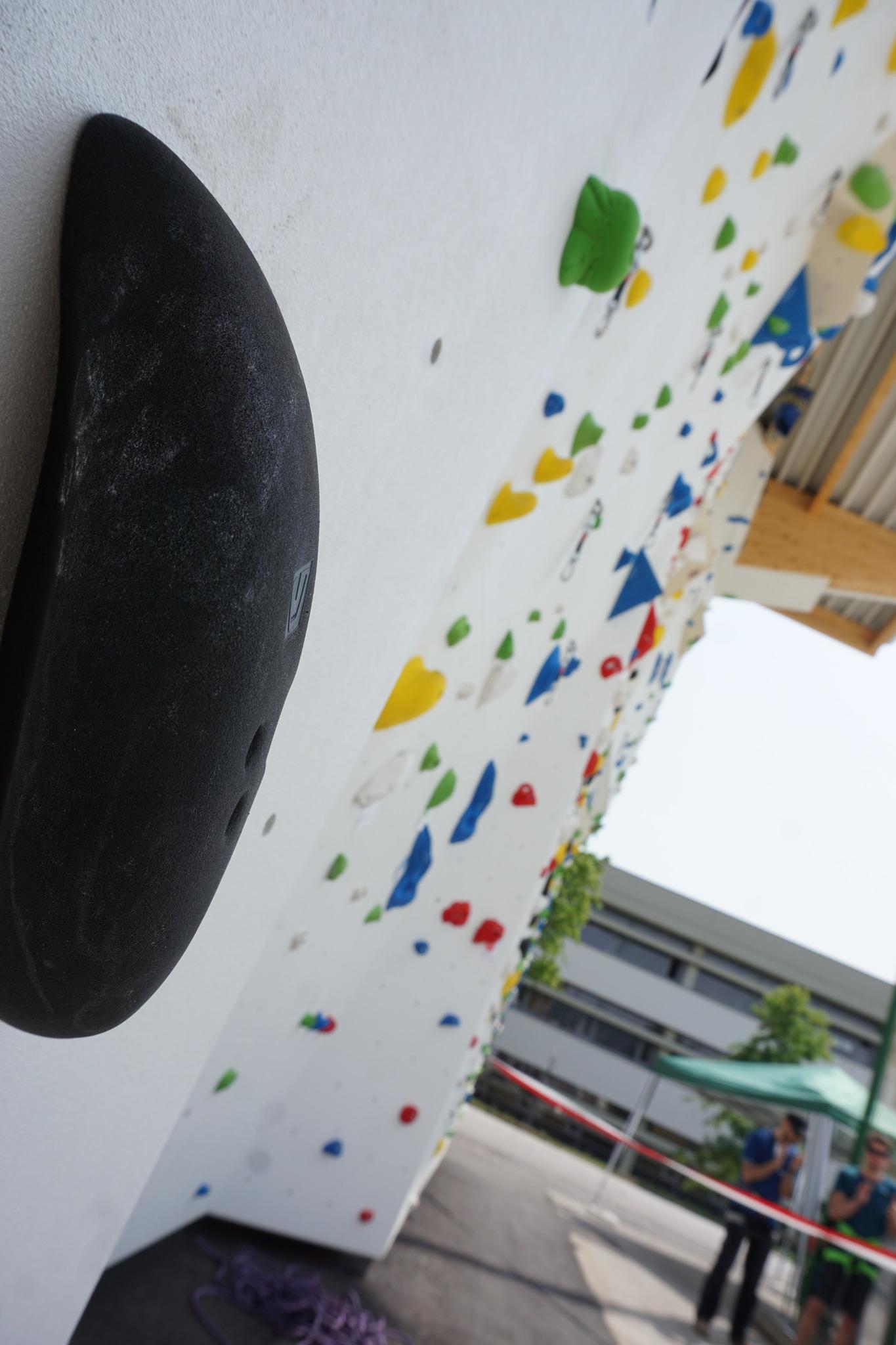 kletterwand im allsportzentrum eröffnet - eisenstadt