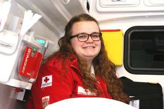 Immer ein Lächeln auf dem Gesicht: Ines Staufer taugt's beim Roten Kreuz.