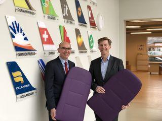 Steirische Lufthoheiten, die für unterschiedlichste Airlines rund um den Globus tätig sind: AMES-Gründer Walter Starzacher und Wollsdorf Leder-Geschäftsführer Andreas Kindermann