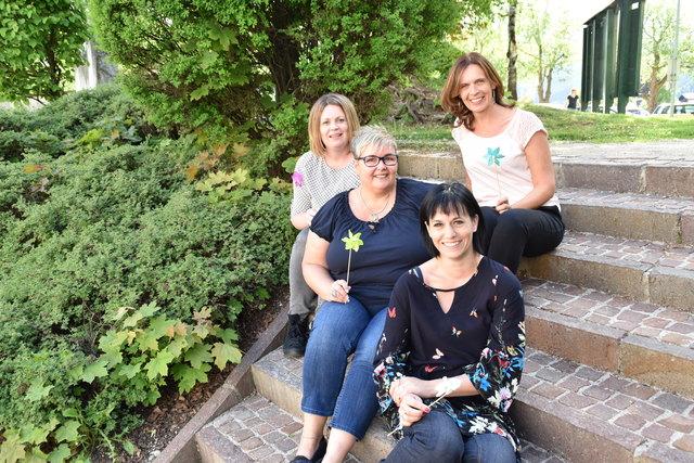 Vier der fünf Impulsgeberinnen: Christina Wernig (vorne), Karin Dorozynskyj, Barbara Pagitz und Nicola Fa