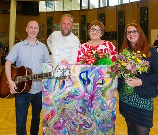 Vernissage: Rainer Spieler, Mario Mak, Astrid Kirschner-Mack und Ruth König