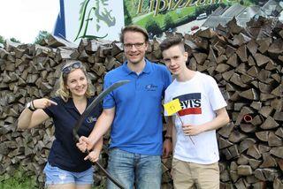 Jakob Kirchberger/ LJ Graz-Südwest (Bildmitte mit Katharina Muhr und Lorenz Hillebrand) erreichte für den Bezirk GU-Süd den sechsten Platz.