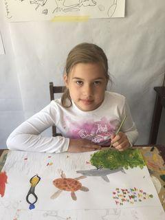 Helene Neunteufl, 10 Jahre, besucht die Malakademie KIDS Eggenburg