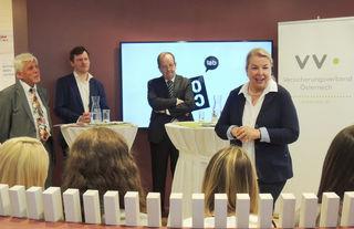 Hans Hartweger, Thomas Marschall, Othmar Ederer und Beate Hartinger-Klein bei der Eröffnung des COCO labs.