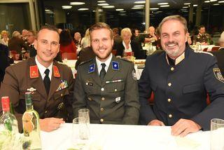 Die drei Chef`s der Blaulichtorganisationen: HBI Jürgen Hofer (Feuerwehr), Mario Keusch (Rotes Kreuz) und Leo Maierhofer (Polizei).