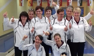 Die Kegel-Damen vom SV Schwarzach treten in der kommenden Saison in der Bundesliga an.