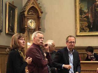 Stöckl-Wolkerstorfer, Gehrer, Hornyik und Hofer-Gruber - um 23 Uhr schon etwas gezeichnet nach fünfstündigen Debatten.