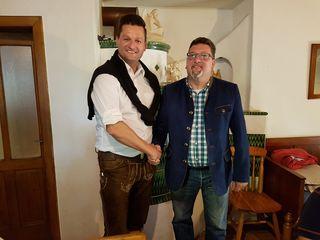 Michael Gruber (li.) mit Robert Cicona