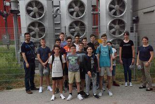 Zwentendorfer Schüler waren begeister vom Kraftwerk.