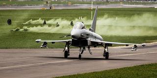 Die Eurofighter heben zu Überschallflügen ab. Foto: Bundesheer/Gorup