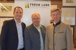 Forum- Land- Obmann Thomas Pohl, NR Hermann Gahr und DI Franz Lanschützer.