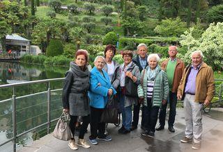 Der Seniorenverein St. Anton am Arlberg unternahm eine heitere Frühlingsfahrt nach Meran-Trauttmansdorff.