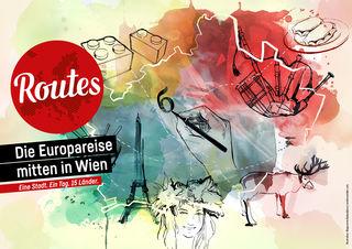 Am Samstag, 26. Mai, geht es vom MuseumsQuartier aus auf sechs verschiedene Europa-Touren.