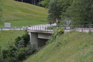 Generalsanierung in Scheibbs: Die Brücke über den Saffenbach in Brandstatt an der Bundesstraße B22 wird  instandgesetzt.