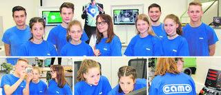 Camo-Lehrlinge brachten beim Girls' Day den jungen Kolleginnen aus den Neuen Mittelschulen die verschiedenen Fertigkeiten ihrer Berufe näher.
