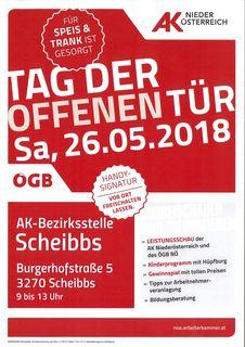 Tag der offenen Tür in der Bezirksstelle der Arbeiterkammer Niederösterreich in Scheibbs.