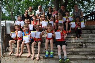 Die Jung-Athleten aus Purgstall waren beim Robinson-Cup in Pottenstein erfolgreich.
