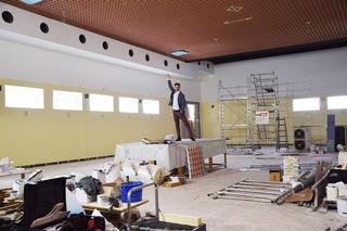 Chef Thomas Kraml auf der aktuellen Baustelle am Rochusmarkt. Der Zielpunkt wird zum Tanzpalast.