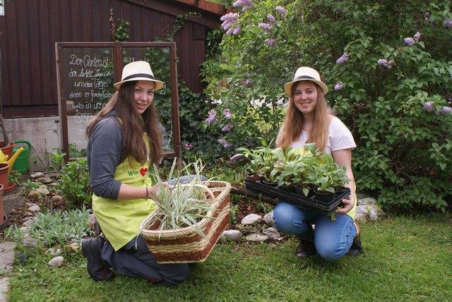 Die Schülerinnen Sarah Handl und Michelle Bachner genießen ihre Ausbildung im Bildungszentrum Gaming.