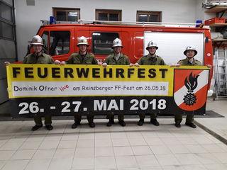 Die Feuerwehr lädt zum Zeltfest am Reinsberger Sportplatz.