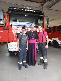 Zufälliges Treffen mit der Feuerwehr/Neuberg wärend der Visitation mit dem Bischof.