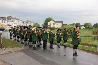 Die Musiker der Jugendkapelle Mooskirchen war schon am frühen Morgen des Pfingststonntags unterwegs.