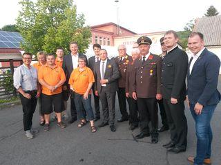 Ihr Jubiläum feuerte die Feuerwehr Minihof-Liebau mit zahlreichen Ehrengästen sowie Kameraden aus dem In- und Ausland.
