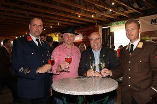 Auch Bgm. Kurt Riemer und Bereichsfeuerwehrkommandant Christian Leitgeb schauten vorbei.