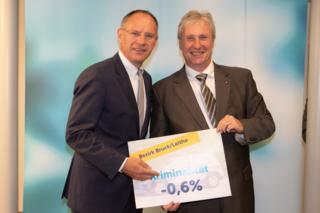 LAbg. Bgm. Gerhard Schödinger zeigt sich mit 2. Landtagspräsident Gerhard Karner über die präsentierten Zahlen erfreut.