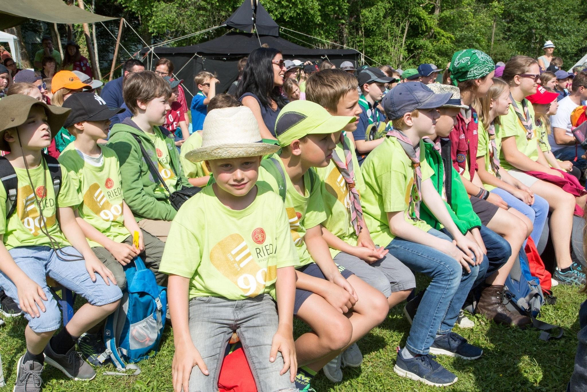 Viele Besucher Am Pfadfinderschaulager Ried Ried