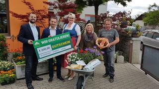 Armin Zwazl (VP), Walter Bock (Lagerhaus Neunkirchen) Christine Vorauer (VP), Branka Leitner (Blumen Rath) und Helmut Schevcig (Blumen Schevcig)